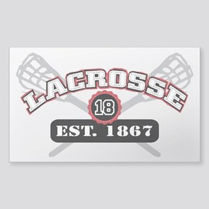 Lacrosse Est 1867 Sticker (Rectangle)